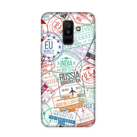 Visa Stamps Case for Samsung Galaxy J8