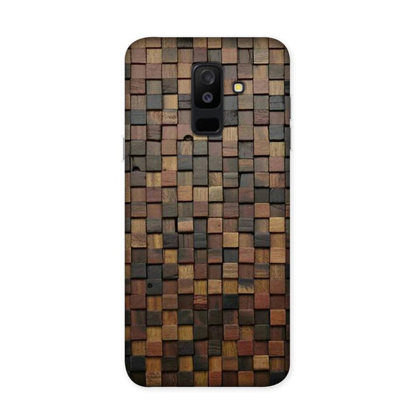 Wooden Blocks Case for Samsung Galaxy J8