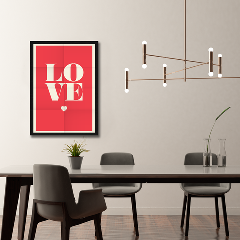 Love Heart Framed Wall Art - Portrait