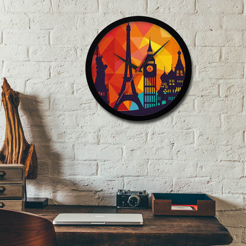 Go Places Wall Clock