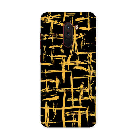 Golden Strokes Case for Xiaomi Poco F1