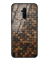 Wooden Blocks Glass Case for OnePlus 7T Pro