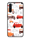 Vintage Wheels Glass Case for OnePlus Nord