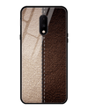 Cameo Leather Texture Glass Case for OnePlus 7
