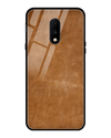 Classic Leather Texture Glass Case for OnePlus 7