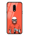 Red Skelly Glass Case for OnePlus 7