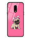 Pinky Pug Glass Case for OnePlus 7