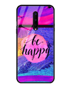 Always Be Happy Glass Case for OnePlus 8