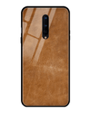 Classic Leather Texture Glass Case for OnePlus 8