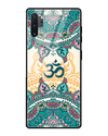 Aum Block Art Glass Case for Samsung Galaxy Note 10 Plus