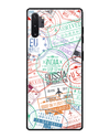 Visa Stamps Glass Case for Samsung Galaxy Note 10 Plus
