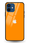 Orange Glass Case for iPhone 12