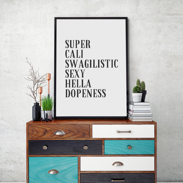 Swagilistic Framed Wall Art - Portrait