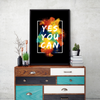 Yes You Can Framed Wall Art - Portrait