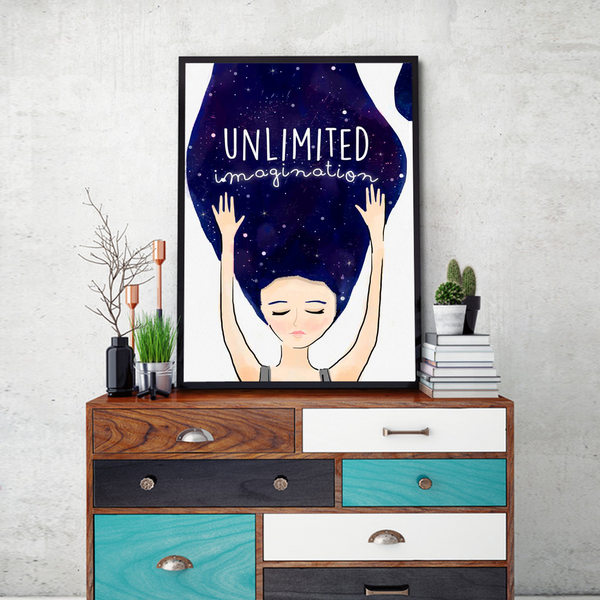 Unlimited Imagination Framed Wall Art - Portrait