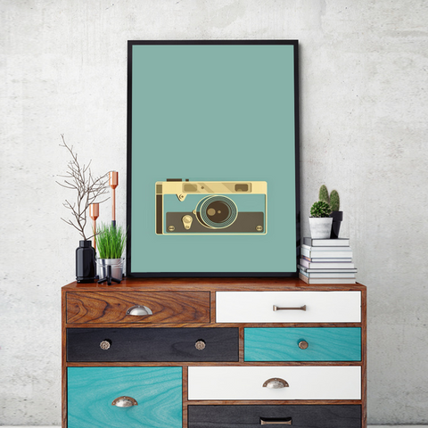 Vintage Camera Framed Wall Art - Portrait