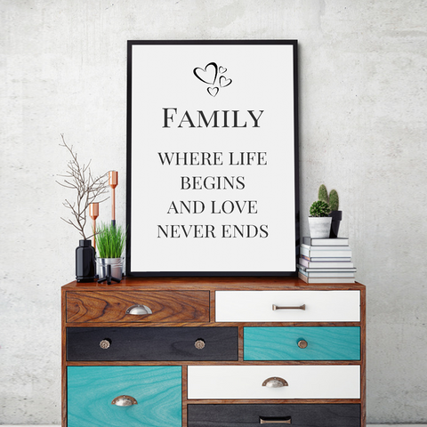 Family Framed Wall Art - Portrait