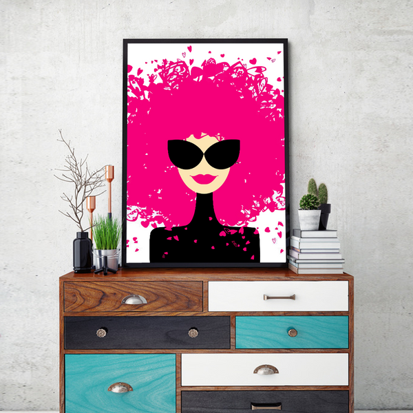 Fashionista Framed Wall Art - Portrait