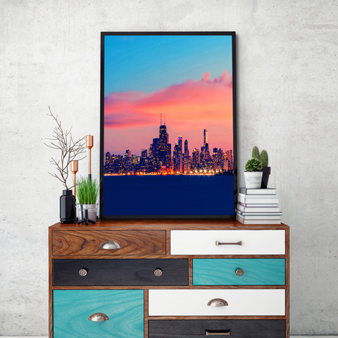 NY Skyline Framed Wall Art - Portrait