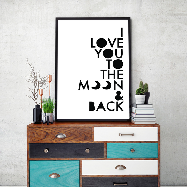 To The Moon  Framed Wall Art - Portrait