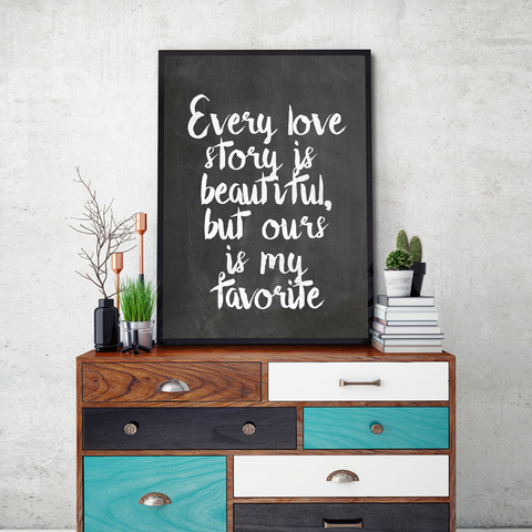 Beautiful Love Story Framed Wall Art - Portrait