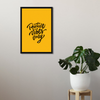 Positive Vibes Only Framed Wall Art - Portrait