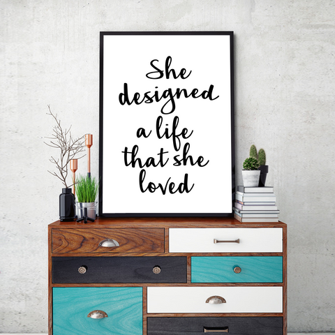 Life She Loved Framed Wall Art - Portrait
