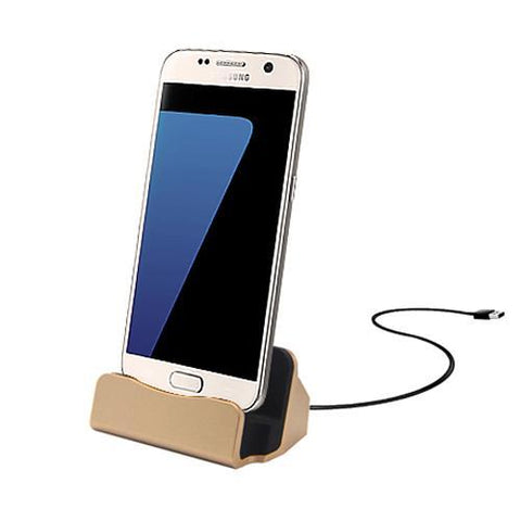 Android Micro USB Charging Dock - Gold