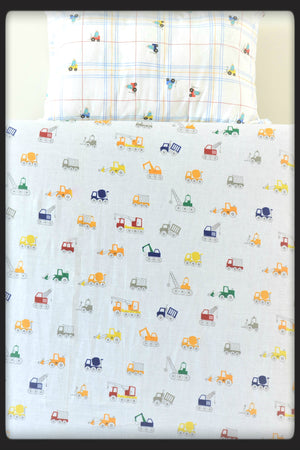 Kids bed sheets - Cot sheet style Cranes 3