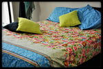 Queen Size Cotton Fitted Bed Sheet Set by Naqsh (Style: Gulistan)
