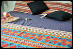Queen Size Colorful Cotton Fitted Bed Sheets by Naqsh (Style: Rangoli)