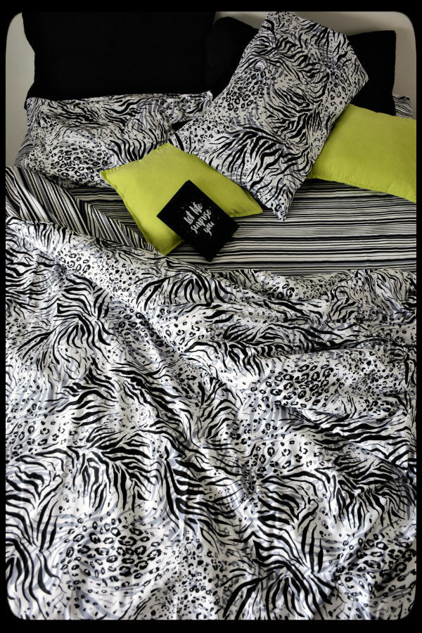 Queen Size Colorful Cotton Quilt Covers by Naqsh (Style : Zebra Quilt Cover)