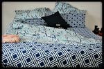 Queen Size Colorful Cotton Quilt Covers by Naqsh (Style Aasmani)