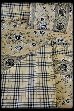 Queen Size Colorful Cotton Quilt Covers by Naqsh (Style : Raeth)