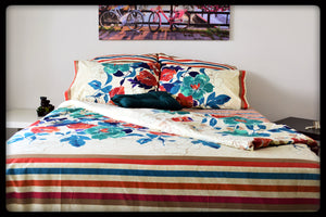 Queen Size Colorful Cotton Quilt Covers by Naqsh (Style: Gulshan)