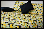 Queen Size Fitted Bed Sheet Set by Naqsh (Style: Dhoop)