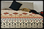 Queen Size Cotton Fitted Bed Sheets by Naqsh (Style: Jabal)