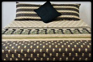 Queen Size Cotton Fitted Bed Sheet Set by Naqsh (Style: Shajr)