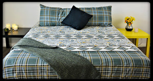 King Size & Queen Size Bed sheets. Quality Bed Sheets. Colorful Cotton Bed Sheets (Fitted Sheets) by Naqsh (Style: Mosaic)