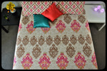 King Size & Queen Size Bed sheets. Quality Bed Sheets. Colorful Cotton Bed Sheets (Fitted Sheets) by Naqsh (Style: Uroos / Beauty)