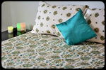 King Size & Queen Size Bed sheets. Quality Bed Sheets. Colorful Cotton Bed Sheets (Fitted Sheets) by Naqsh (Style: Bale / Vine)
