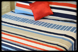 Cotton Fitted Sheet (Style: Lahr / Wave)