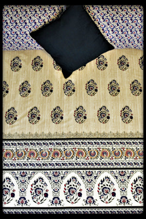 Cotton Fitted Sheet (Style: Mughal)