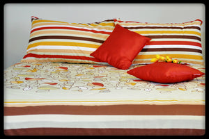 Cotton Fitted Sheet (Style: Colours of Autumn)