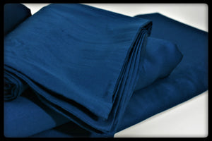 Cotton Fitted Sheet (Style: Plain Blue)