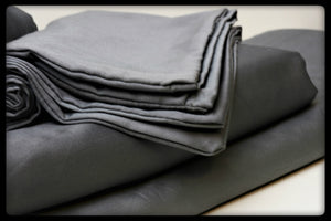 Cotton Sheet Set (Style: Plain Grey)