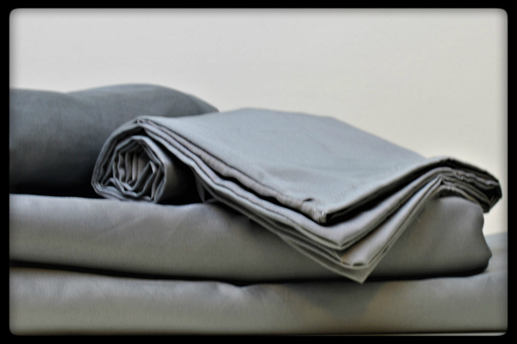 Cotton Flat Sheet (Style: Plain Grey)