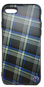 Custom Blue Tartan Fabric design Apple Iphone Samsung Phone Shockproof Case Cover