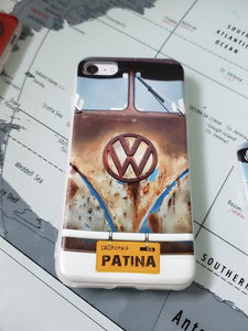 CLASSIC VOLKSWAGEN BLUE CALI PATINA VW split window bus Apple Iphone Samsung Phone Shockproof Case Cover