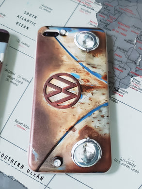 CLASSIC VDUB CALI PATINA VW Split Window BUS Apple Iphone Samsung Phone Shockproof Case Cover